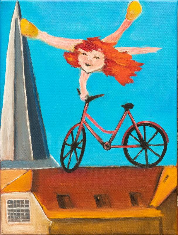 Unik på cykel WA92